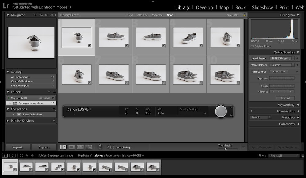 Tether with Lightroom for Streamlined Product Photography